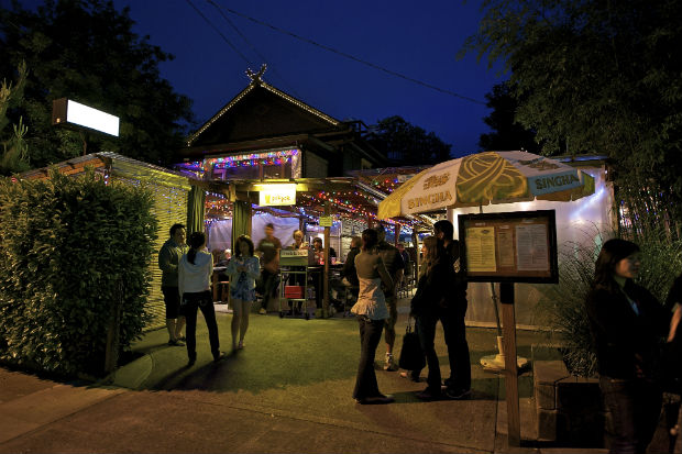 exterior of pok pok pdx at night