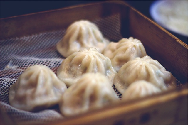 delicious steamed dim sum dumplings