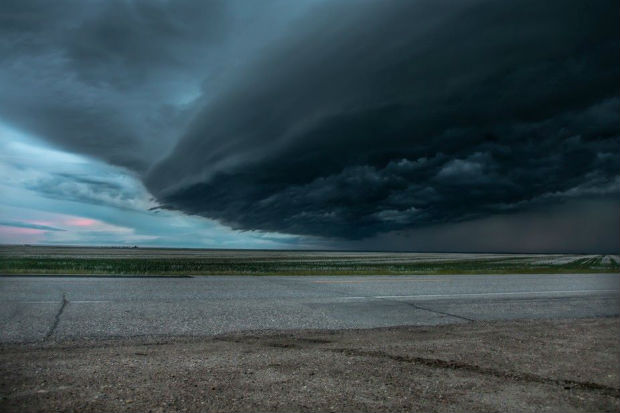 saskatchewan storm sky land of the living skies canada travel tourism dark clouds over the prairies
