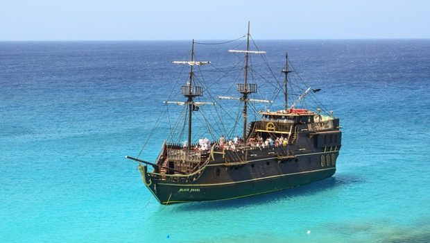 talk like a pirate day ship caribbean aqua water