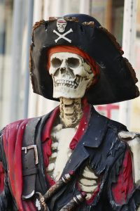 talk like a pirate day funny skeleton