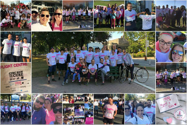 healthwise canada run for the cure 2017 toronto canada fit flighties charity work flight centre careers