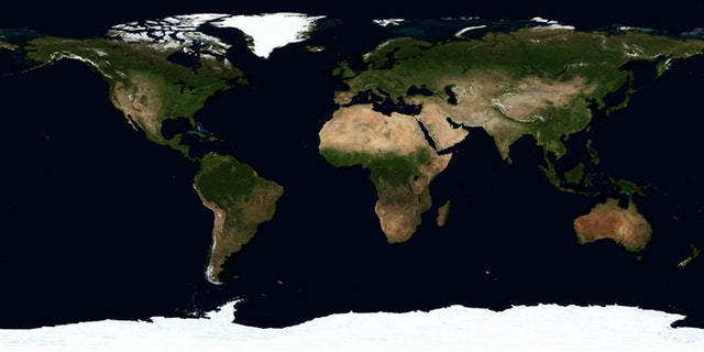 map of the world earth