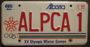 alberta license plate 1988 winter olympics