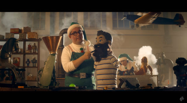 air new zealand christmas video elf makes a beard
