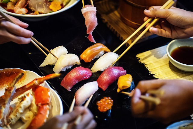 sushi on the summer in japan tour intrepid travel and colin mckenna flight centre travel agent