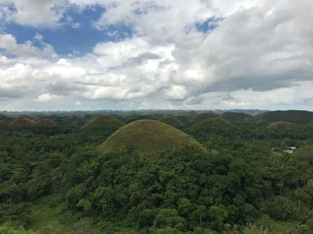 chocolate hills in bohol visayas philippines