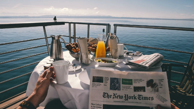 best cabin on a cruise ship winner beautiful ocean view eating breakfast overlooking the ocean