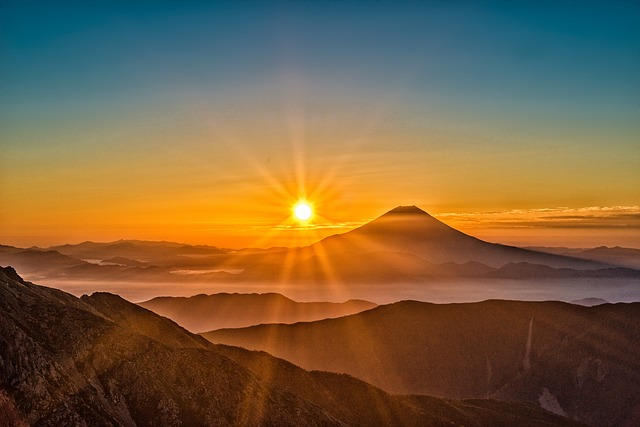 sunrise over mount fuji summer in japan tour