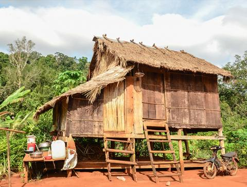 stilt house in cambodia