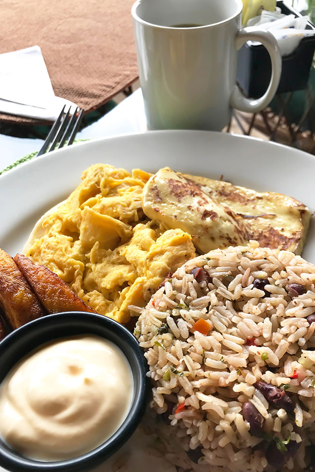 gallo pinto costa rican dish rice beans and eggs for breakfast