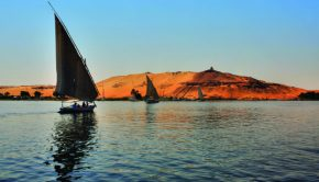 felucca sailing down the nile in egypt