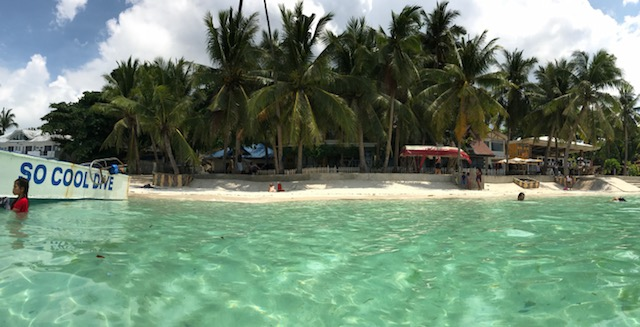clear water in alona beach on panglao in the philippines