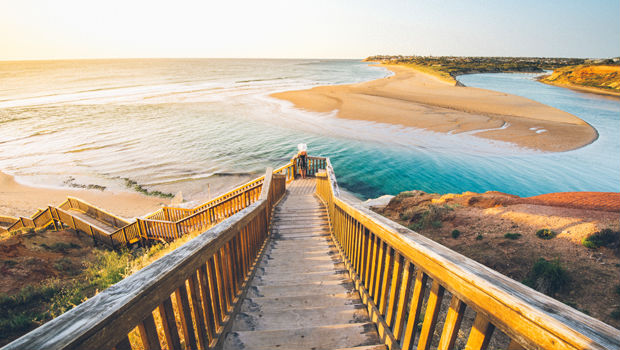 stairs heading to a beach in australia