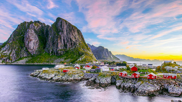 houses along the coast in norway