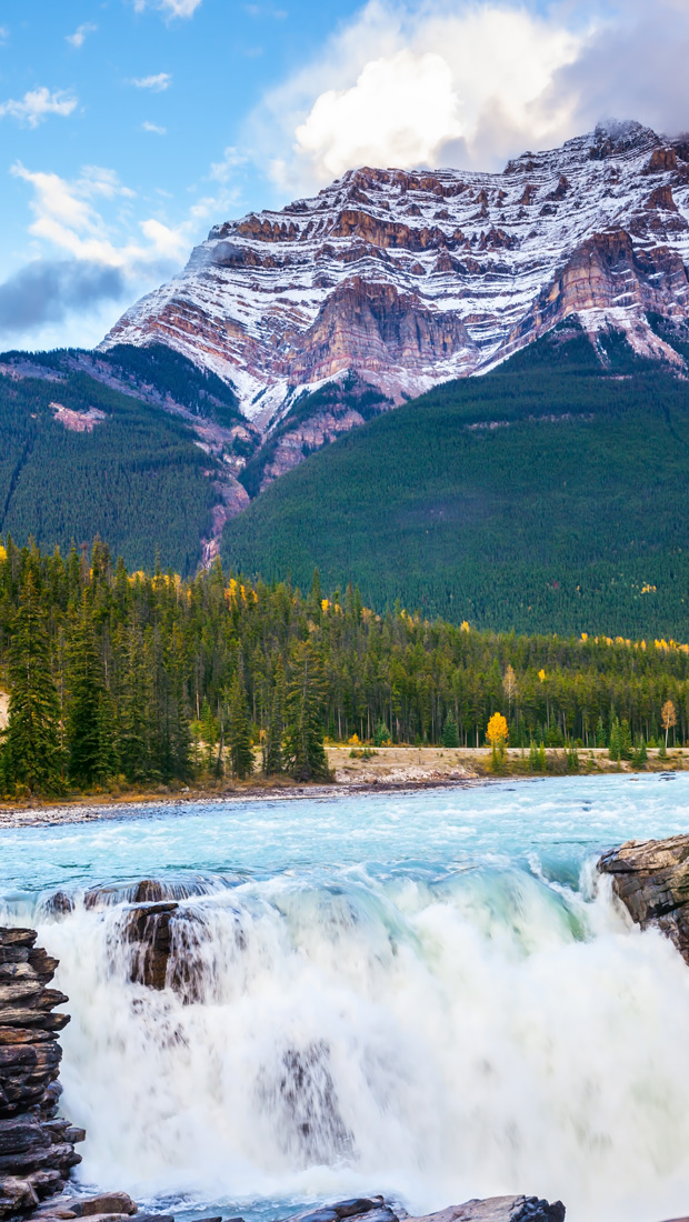 canadas-national-parks-waterfall-mountains-mt-athabasca-jasper-alberta