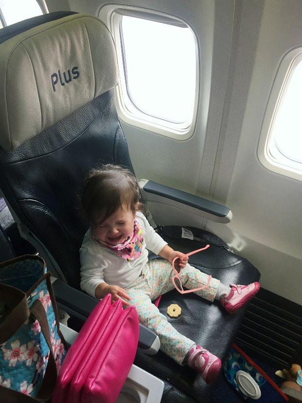 cute-baby-in-westjet-premium-economy-funny-crying
