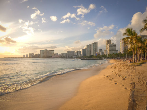 Hawaii family vacation destination on the beach