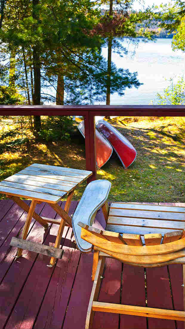 muskoka chairs by the lake