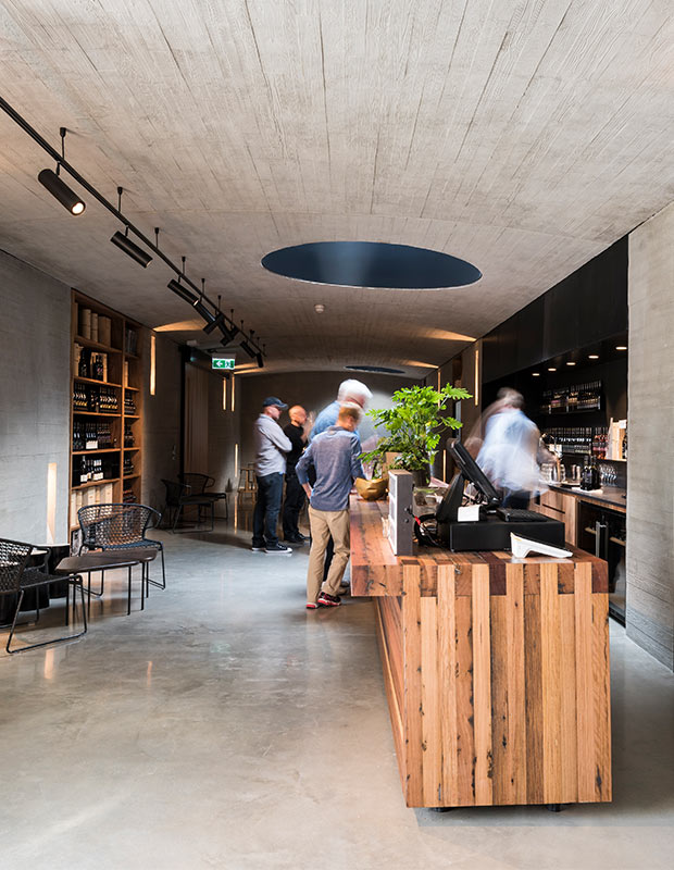 Modern cafe in Melbourne, Australia