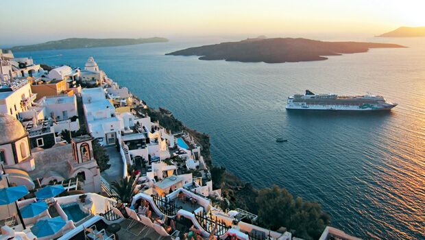 Norwegian cruise line in Europe along the Greek Isles
