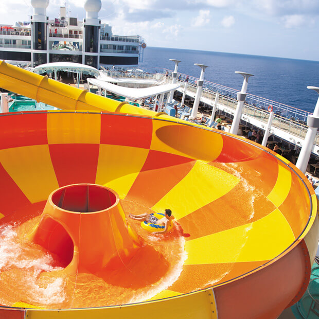 Norwegian Cruise Line ship water slide