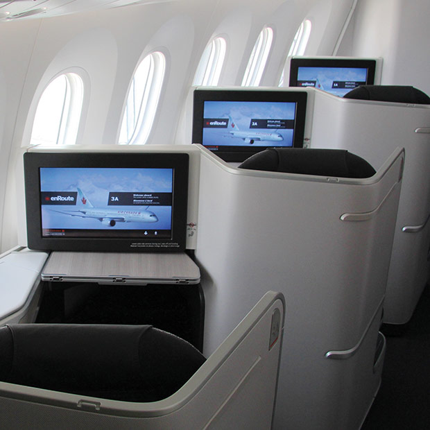 Air Canada Boeing 787-9 Dreamliner Business Class Seating