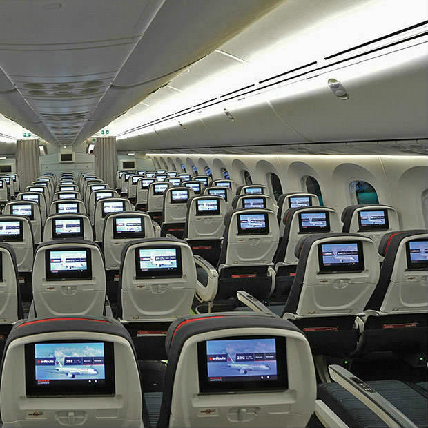 Premium Economy Seats Entertainment Systems - Boeing 787-9 Dreamliner