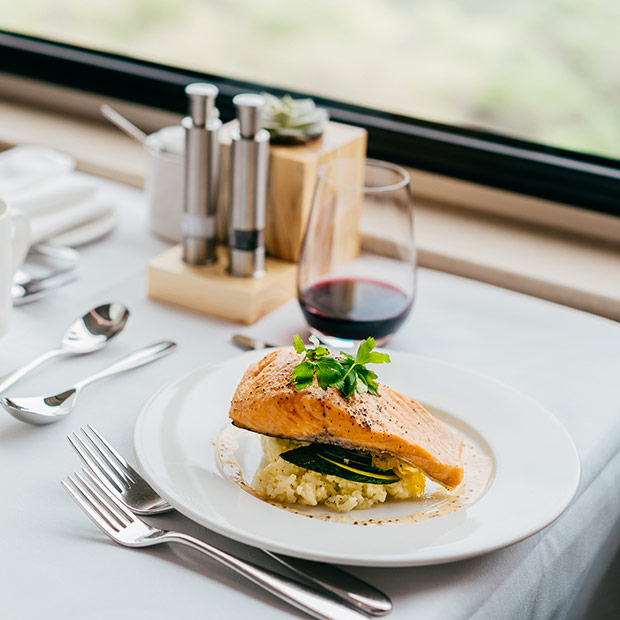 The Rocky Mountaineer Train - Gourmet Meal