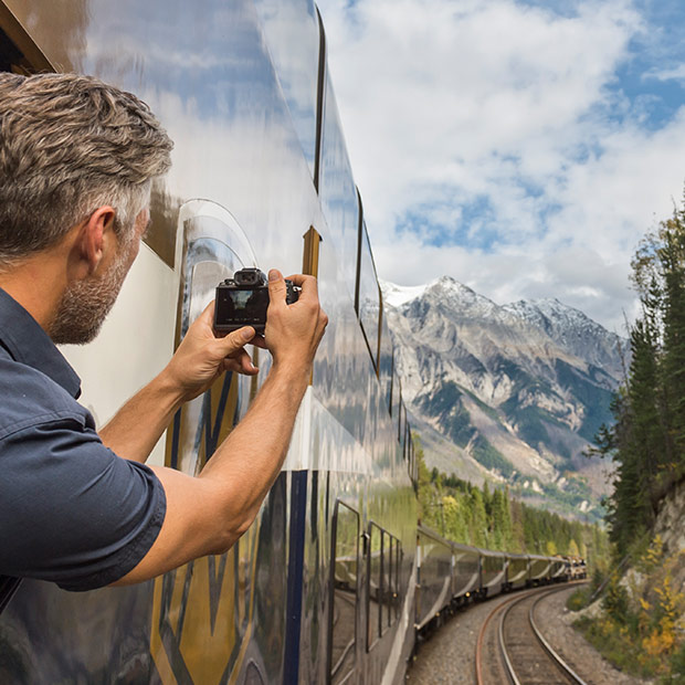 The Rocky Mountaineer Train - Photo Opportunity