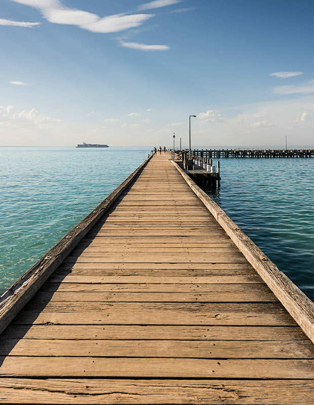 port sea pier in victoria australia