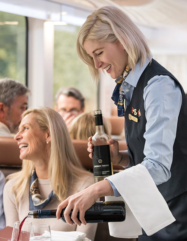 The Rocky Mountaineer Train - Lunch Service