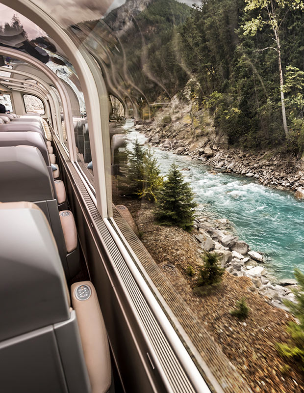 The Rocky Mountaineer Train - Great Views