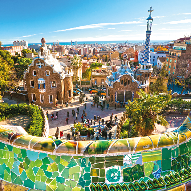 panoramic view from parc guell