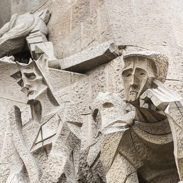 sculptures of la sagrada familia