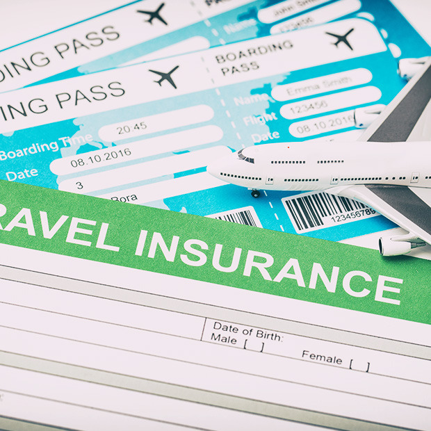 travel insurance and plane tickets