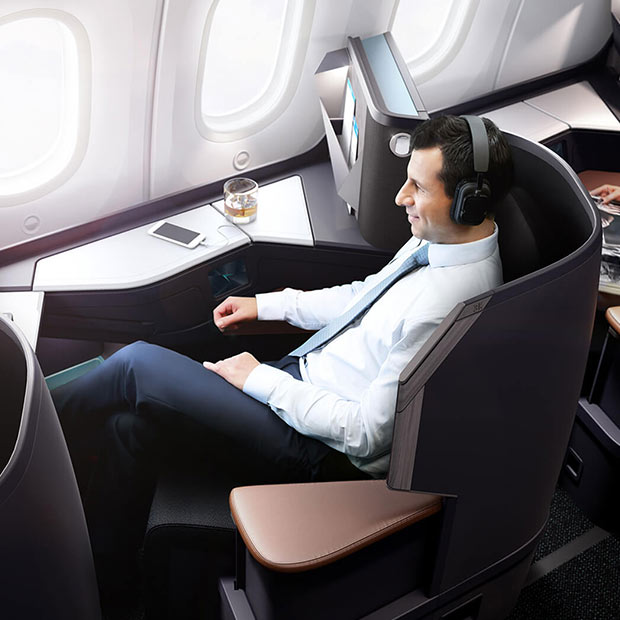 Westjet's new Dreamliner business class