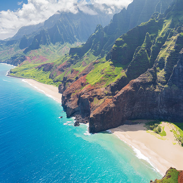 Kauai helicopter tour beaches