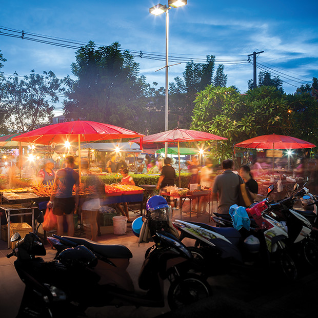 Night life and markets in Phuket