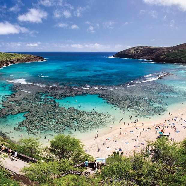 beachgoers at hanauma bay