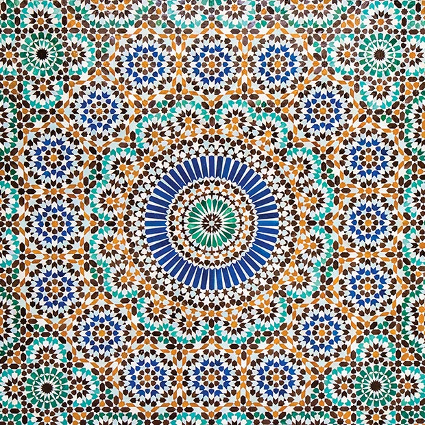 middle east inspired patterned textile