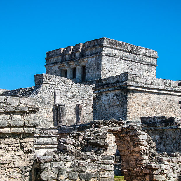 ancient structure in the tulum ruins