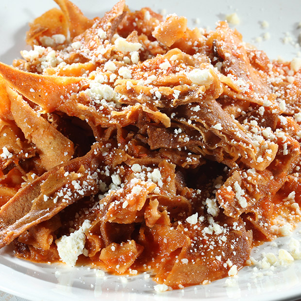 traditional Mexican food chilaquiles