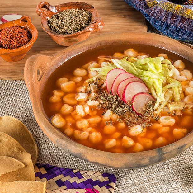 traditional Mexican food pozole