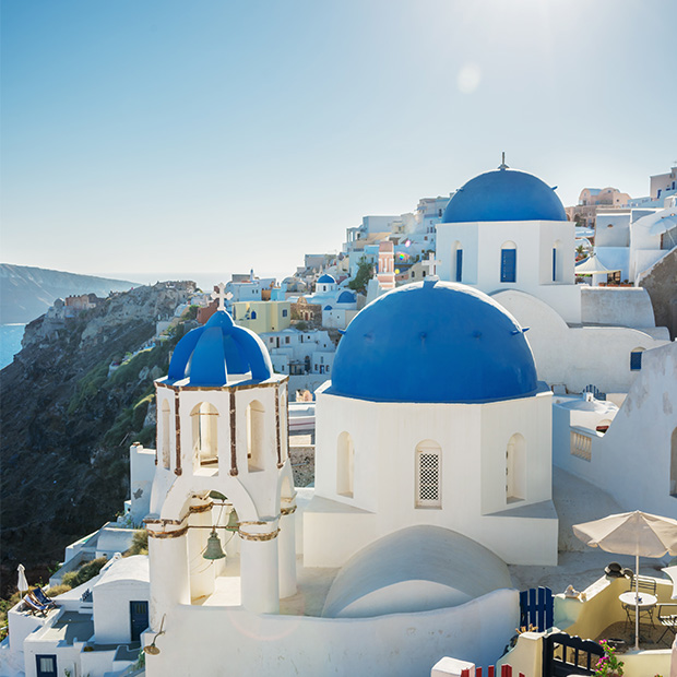 white washed buildings in greece