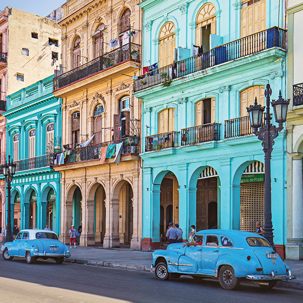 cars on the street in old havana