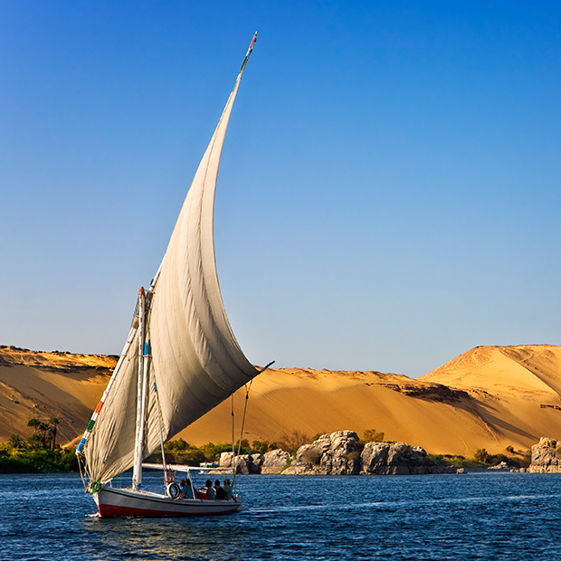 felucca sailing in egypt