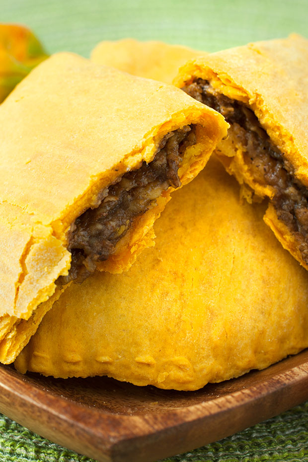 traditional Jamaican food beef patty