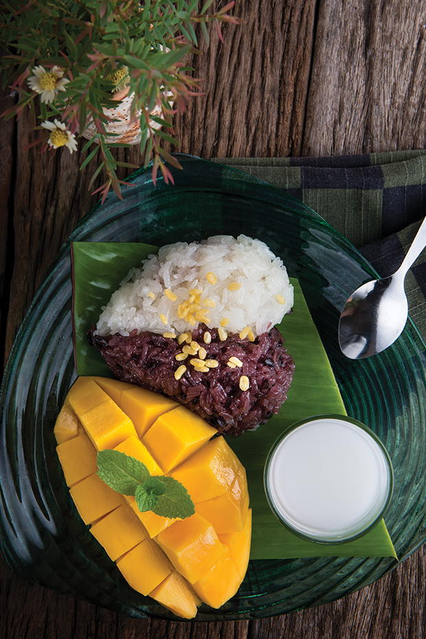 Mango Sticky Rice traditional thai food