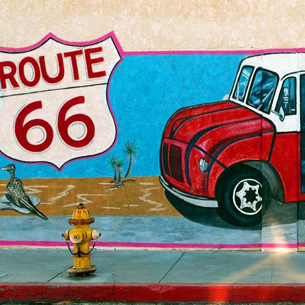 mural of route 66